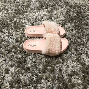 Jessica Simpson Shoes - Jessica Simpson fur slides